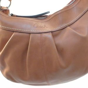 Coach Clay Red Leather Soho Hobo Bag